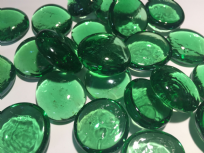 Green Glass Decorative Pebble Beads